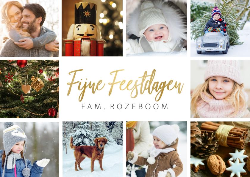 Kerstkaarten - Kerstkaart eenvoudige stijlvolle fotocollage met 10 foto's