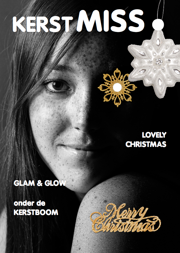 Kerstkaarten - Kerstkaart Eigen foto cover magazine 3