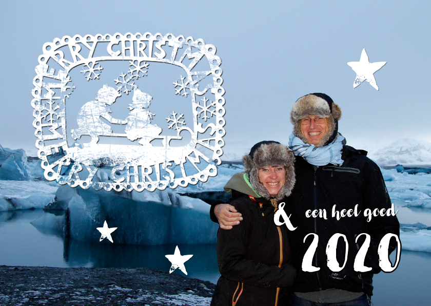 Kerstkaarten - KERSTKAART eigen foto en stempel 2019