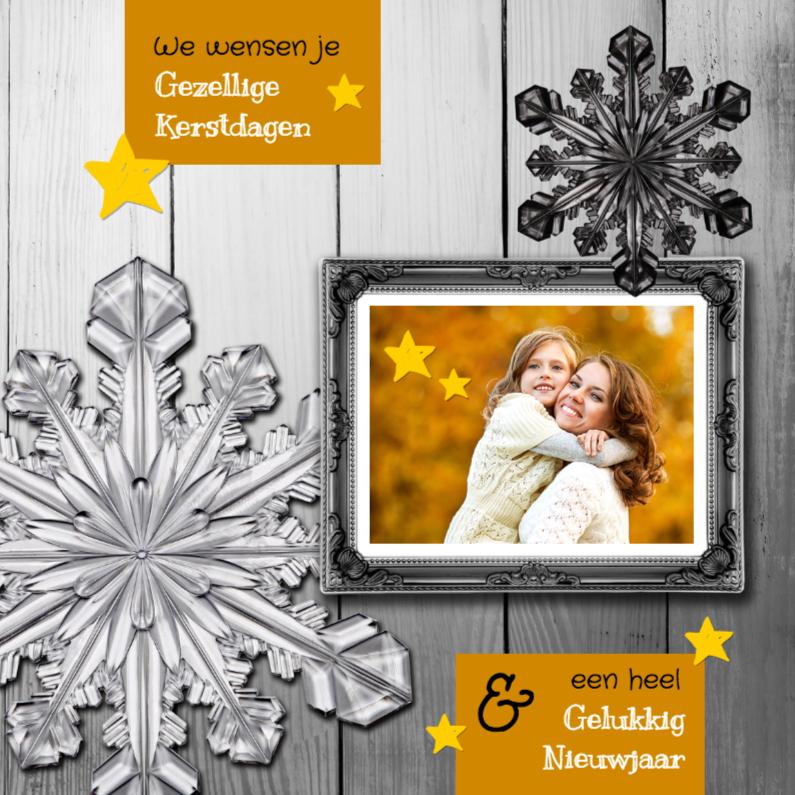 Kerstkaarten - Kerstkaart eigen foto in lijst - SG