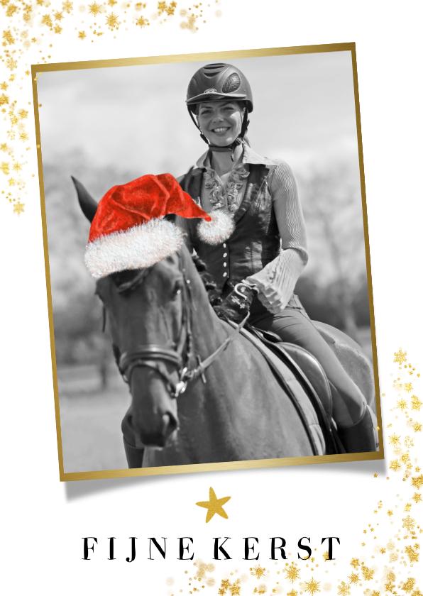 Kerstkaarten - Kerstkaart eigen foto paard