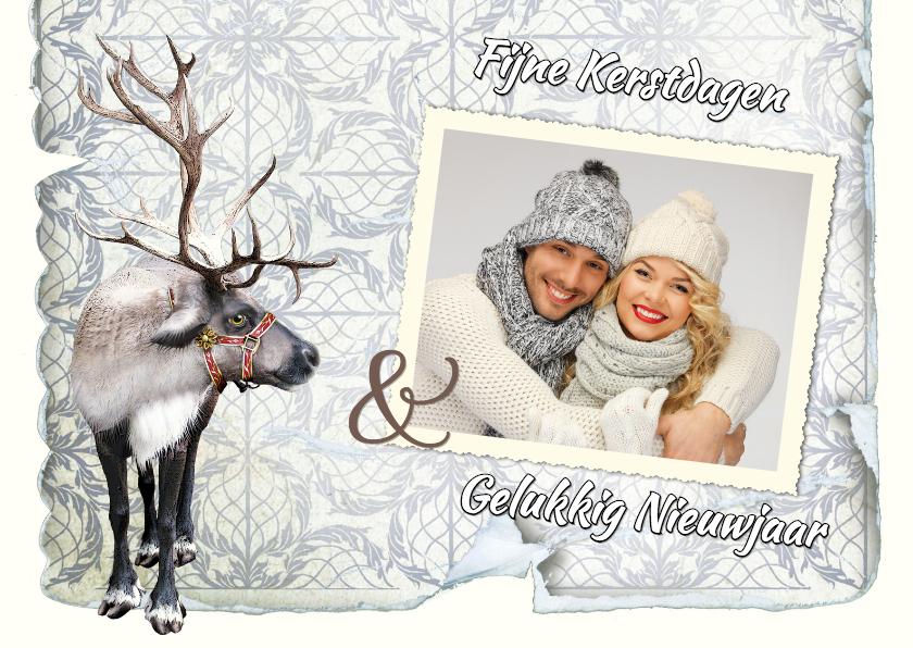 Kerstkaarten - Kerstkaart eigen foto schattig rendier