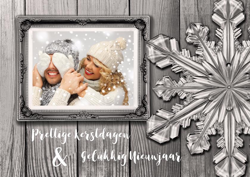 Kerstkaarten - Kerstkaart eigen foto sepia kerstster - SG