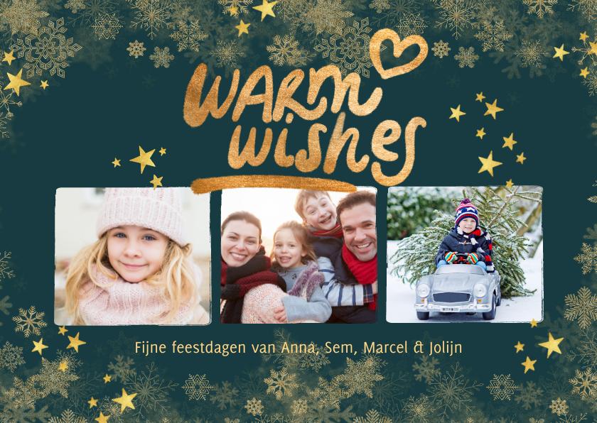 Kerstkaarten - Kerstkaart eigen foto's 'Warm wishes'