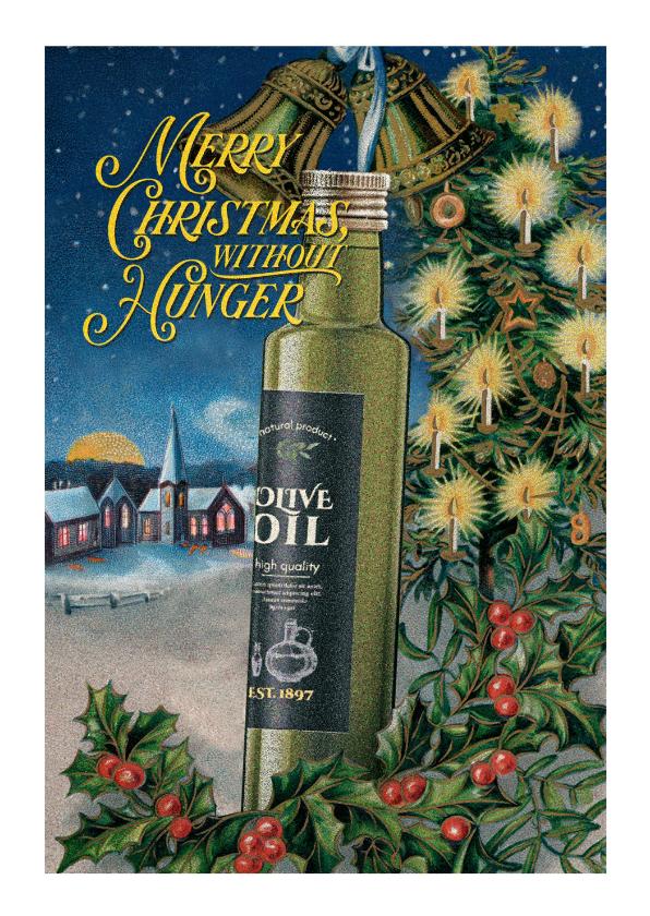 Kerstkaarten - Kerstkaart én olijfolie voor mensen in armoede