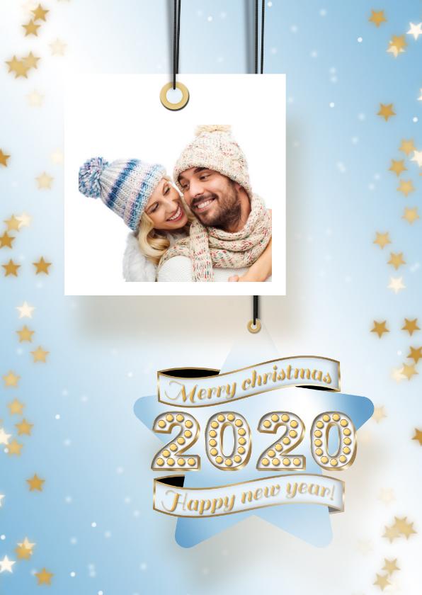 Kerstkaarten - Kerstkaart foto en ster 2020