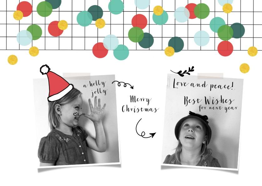 Kerstkaarten - Kerstkaart foto  kerstmuts grappig