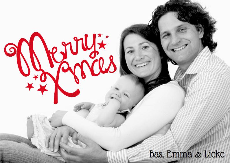 Kerstkaarten - Kerstkaart foto merry xmas
