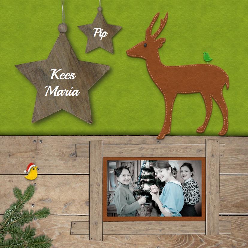Kerstkaarten - Kerstkaart - Foto met hert