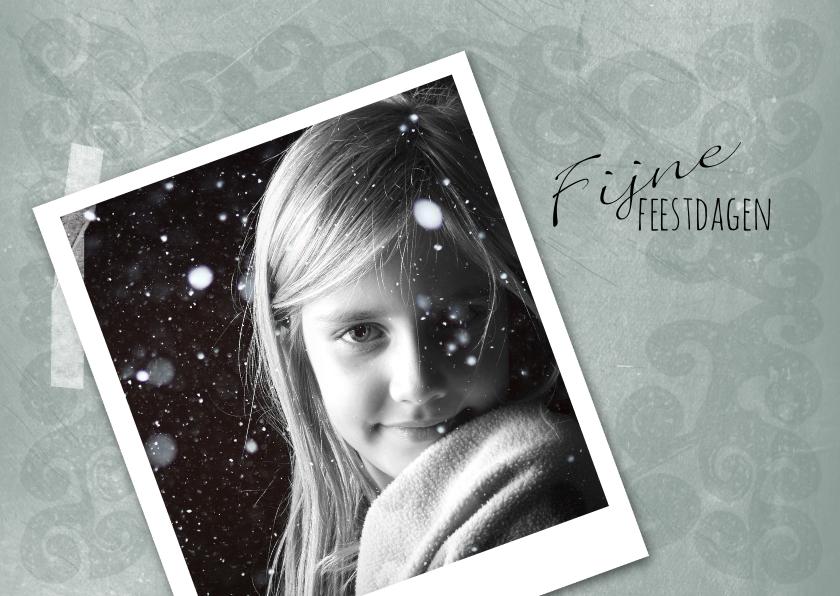 Kerstkaarten - Kerstkaart foto patroon groengrijs-IP
