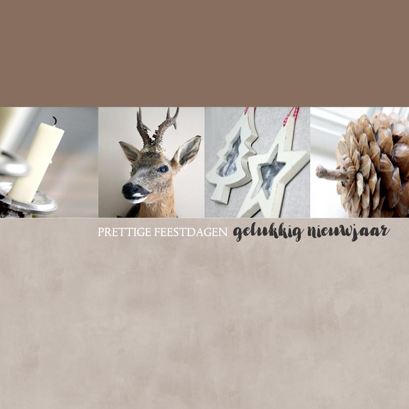 Kerstkaarten - Kerstkaart foto's kalk - BC
