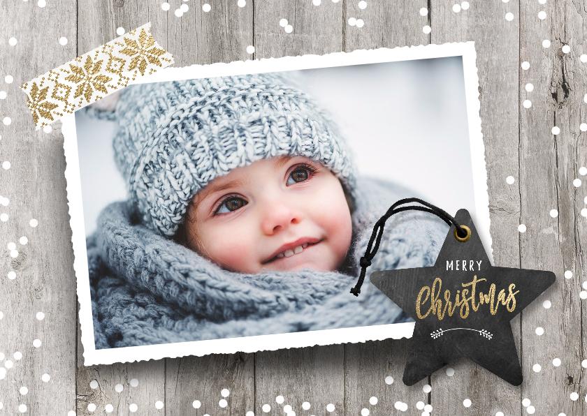 Kerstkaarten - Kerstkaart foto sneeuw