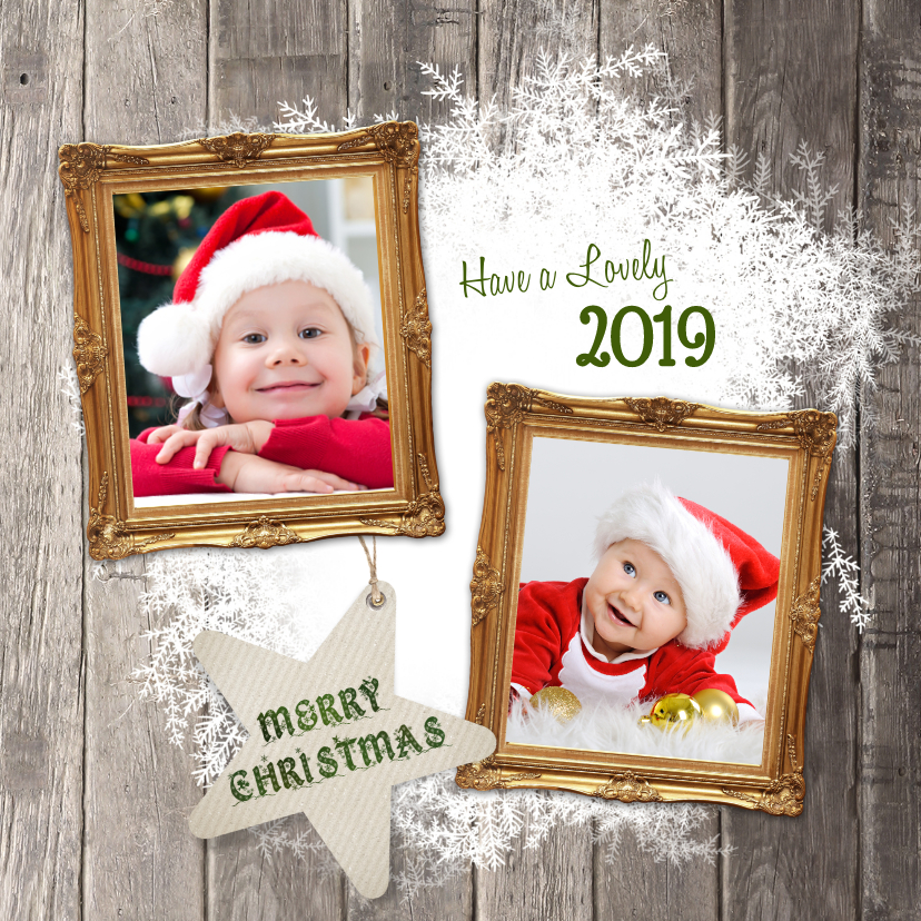 Kerstkaarten - Kerstkaart fotolijstjes