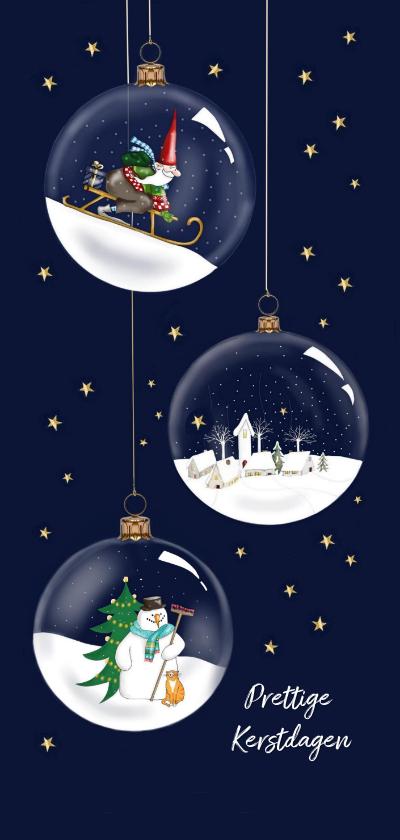 Kerstkaarten - Kerstkaart - glazen kerstballen