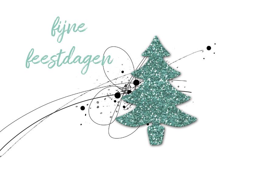 Kerstkaarten - Kerstkaart Glitter Kerstboom