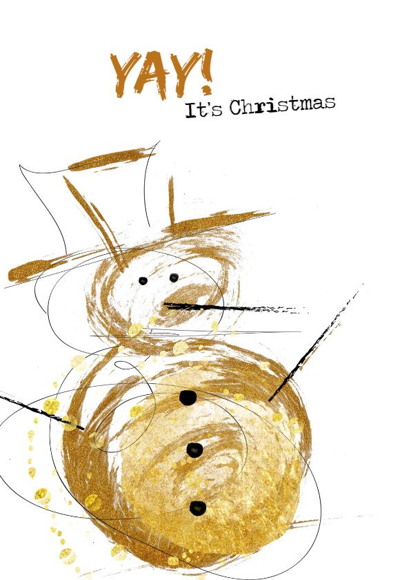 Kerstkaarten - Kerstkaart Goldie Sneeuwman