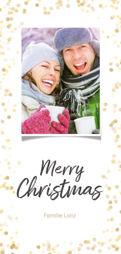 Kerstkaarten -  Kerstkaart gouden confetti - BK
