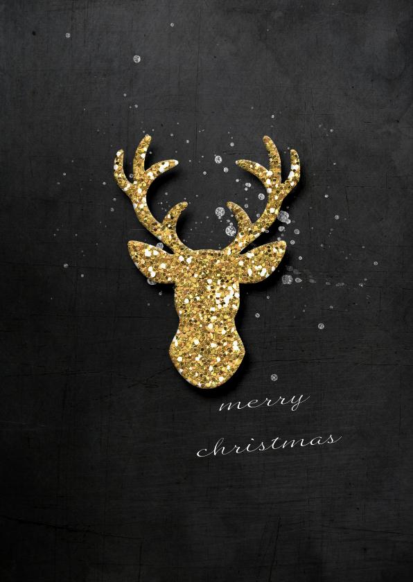 Kerstkaarten - Kerstkaart Gouden Hert