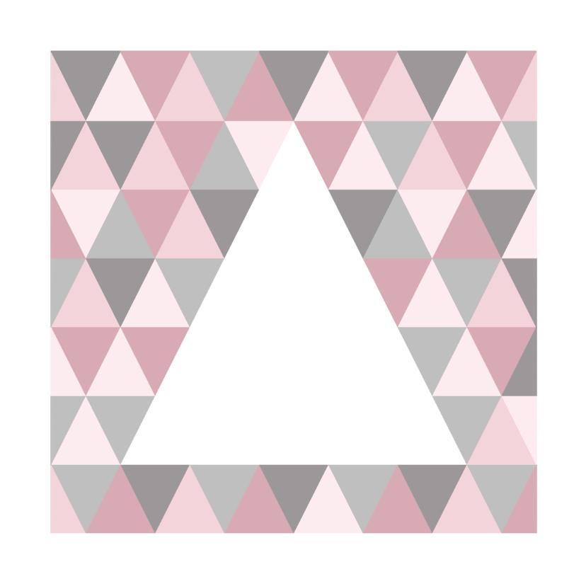 Kerstkaarten - Kerstkaart grafisch grijs & roze