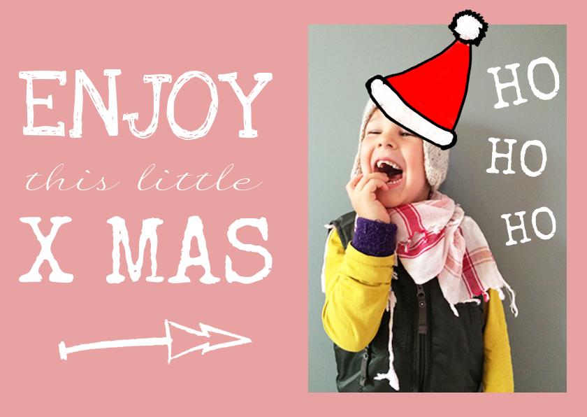 Kerstkaarten - Kerstkaart grappig foto lief