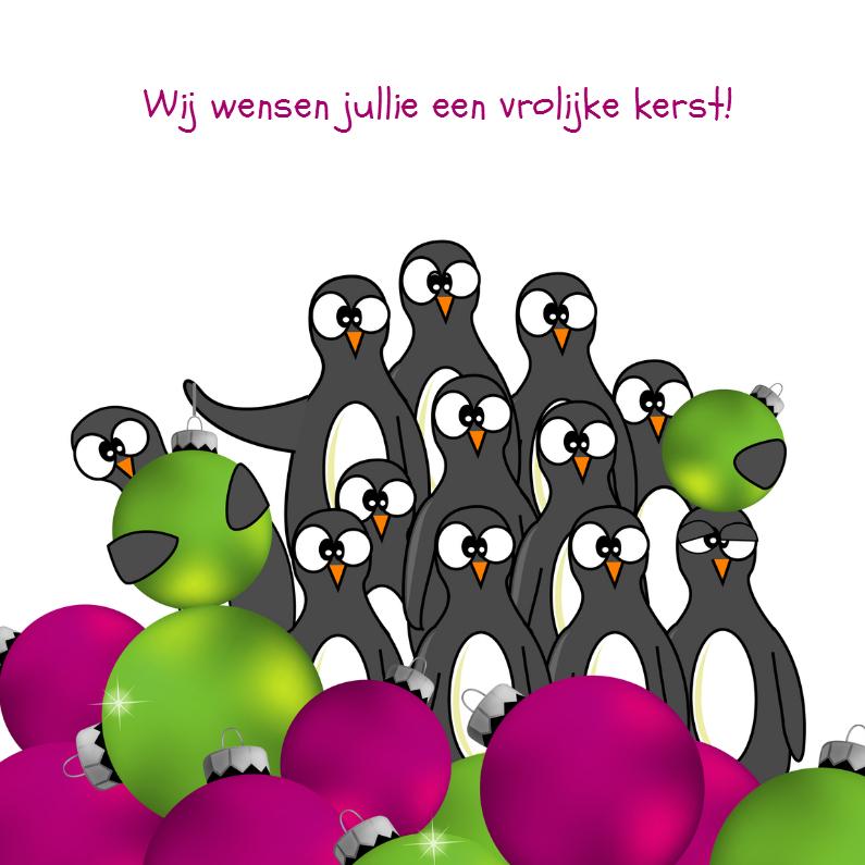 Kerstkaarten - Kerstkaart grappige pinguïn - SZ