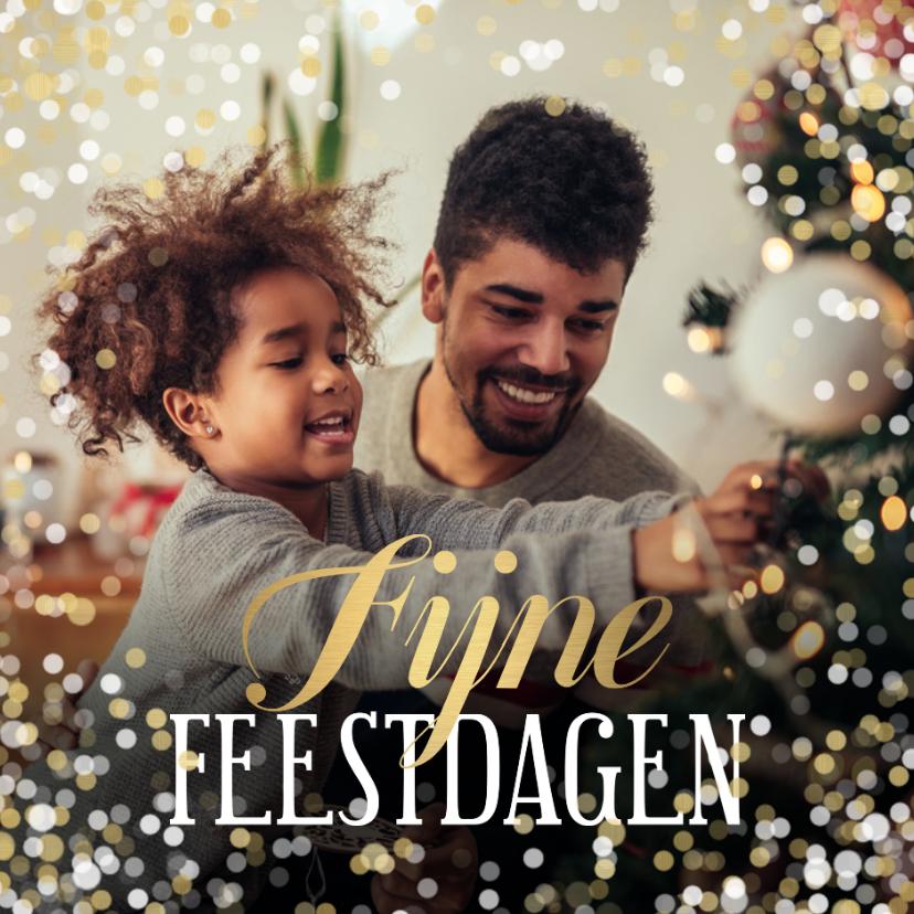 Kerstkaarten - Kerstkaart grote foto Fijne Feestdagen confetti