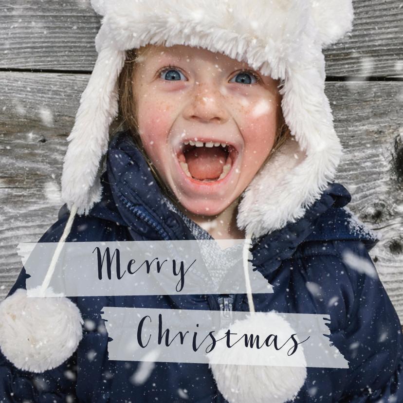 Kerstkaarten - Kerstkaart grote fotovierkante kaart - BK