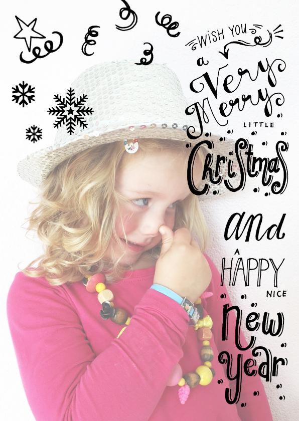 Kerstkaarten - Kerstkaart Hand lettering foto