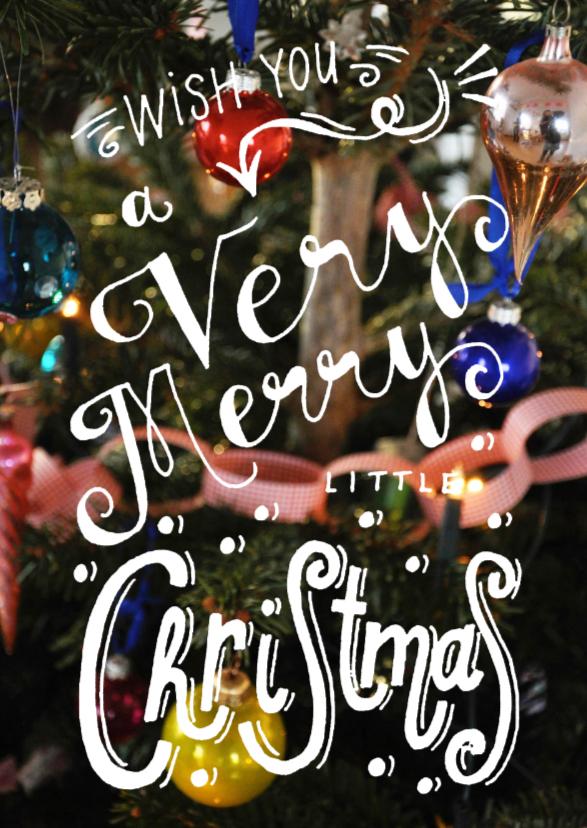 Kerstkaarten - Kerstkaart handlettering kerst