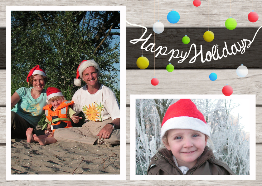 Kerstkaarten - Kerstkaart Happy Holidays