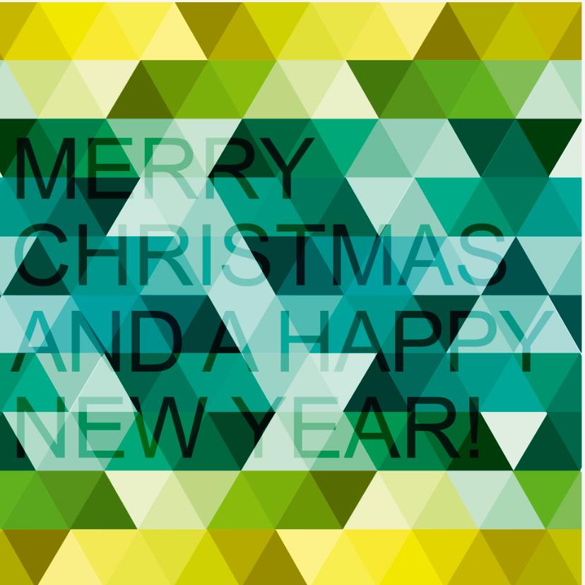 Kerstkaarten - Kerstkaart happy new year triangle