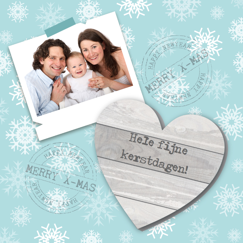 Kerstkaarten - Kerstkaart hart & foto