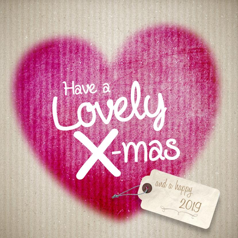 Kerstkaarten - Kerstkaart - Hart-Lovely X-mas