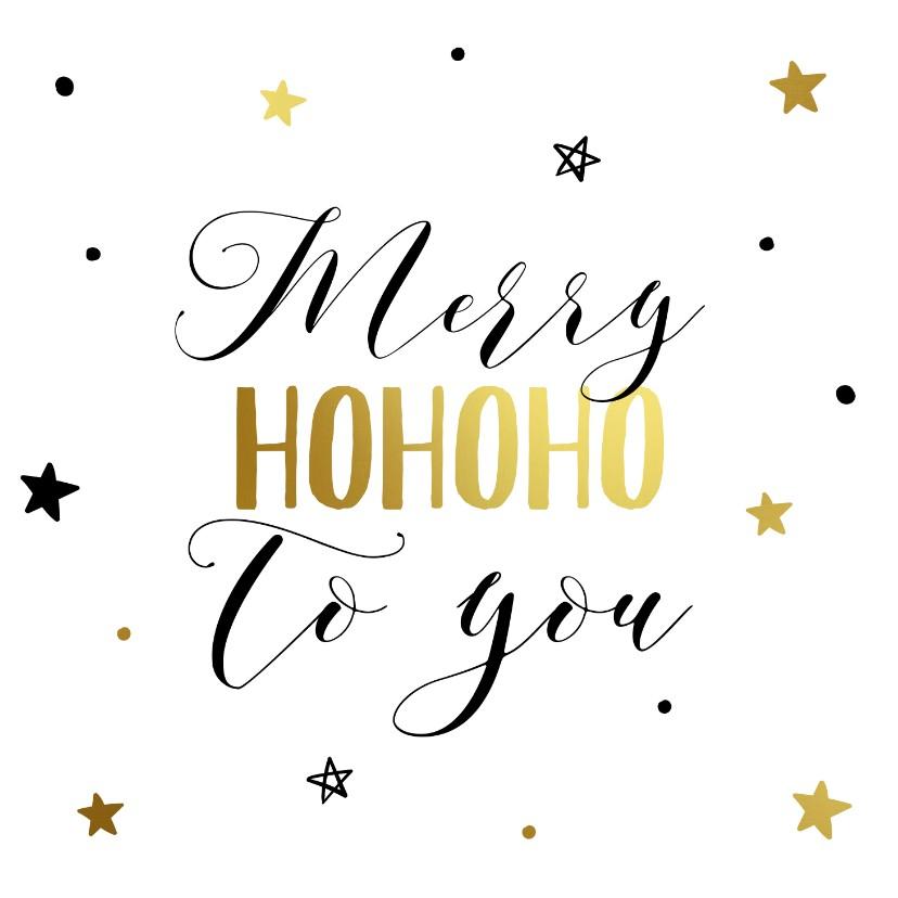 Kerstkaarten - Kerstkaart Hohoho to you
