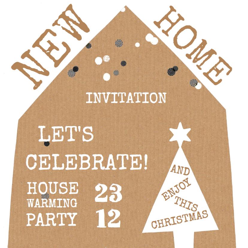 Kerstkaarten - Kerstkaart house warming huis