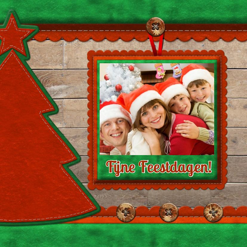 Kerstkaarten - kerstkaart - Hout en foto 2