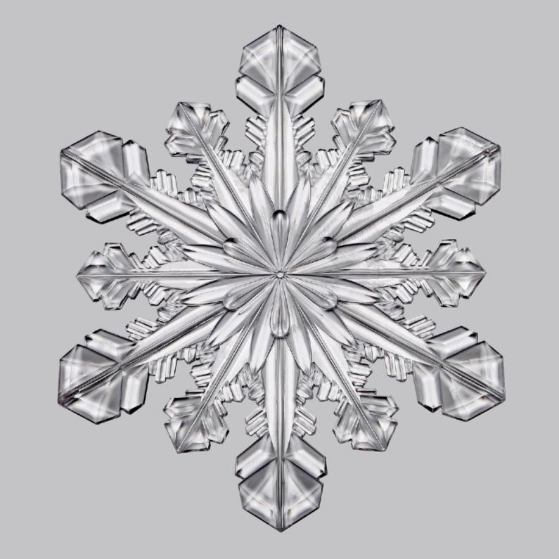Kerstkaarten - Kerstkaart ijskristal grijs - OT