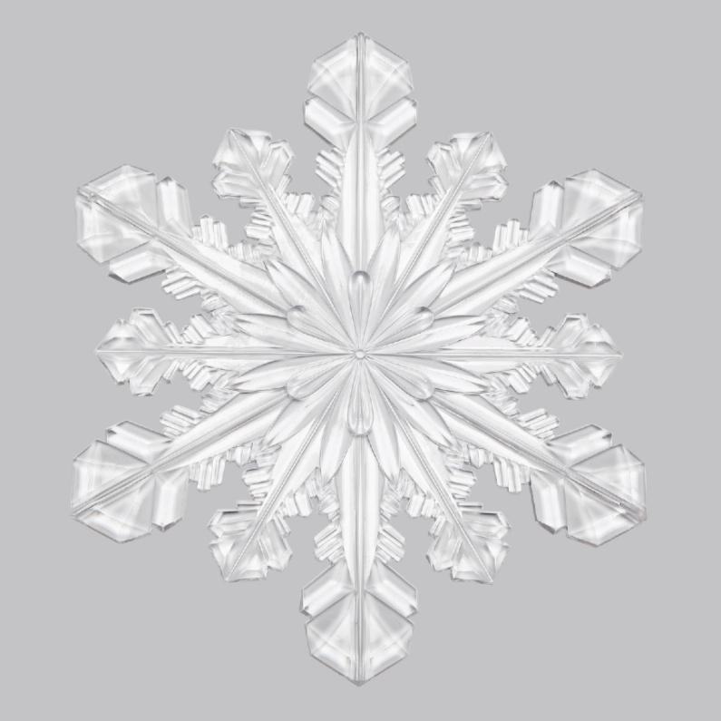 Kerstkaarten - Kerstkaart ijskristal wit
