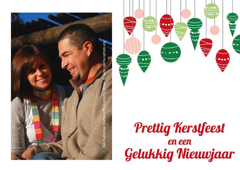 Kerstkaarten - Kerstkaart illustratie kerstbal