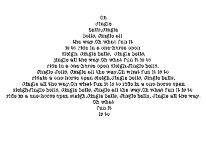 kerstkaart Jingle bells 1
