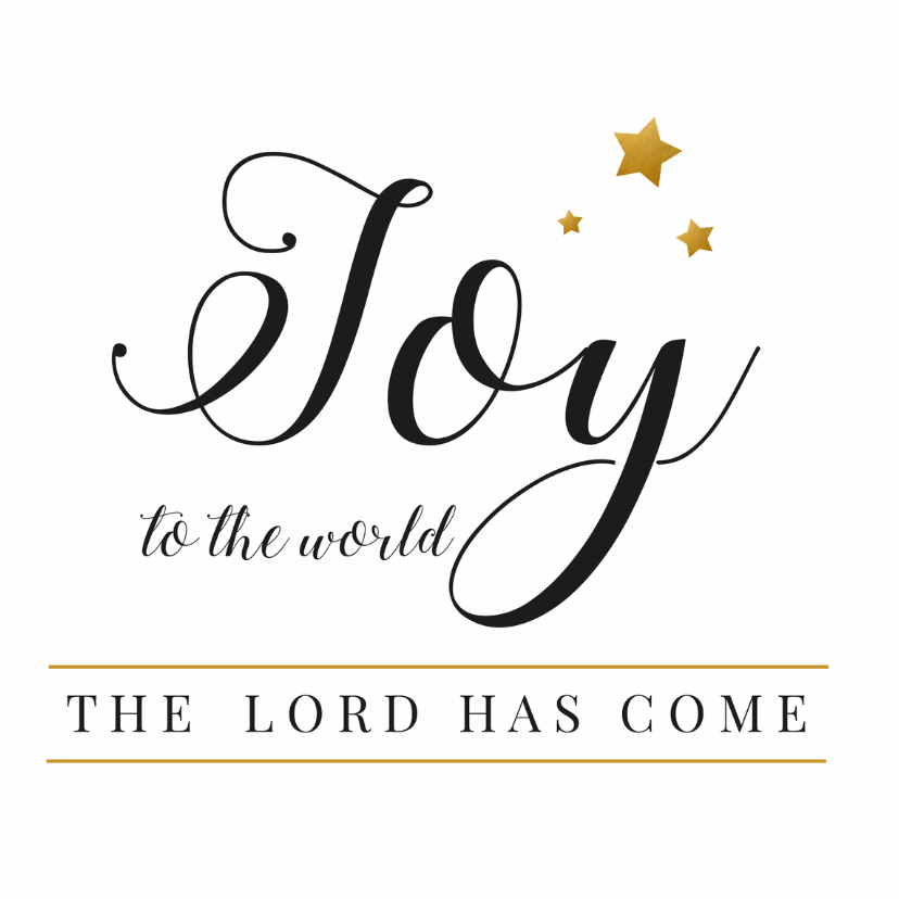 Kerstkaarten - Kerstkaart Joy zwartwit