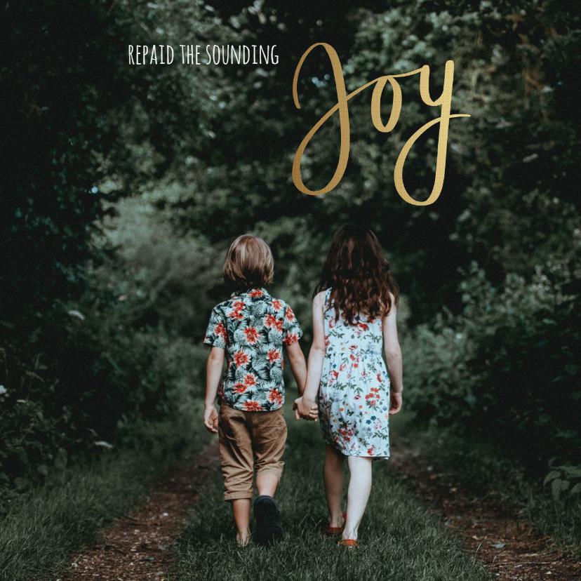 Kerstkaarten - Kerstkaart Joy