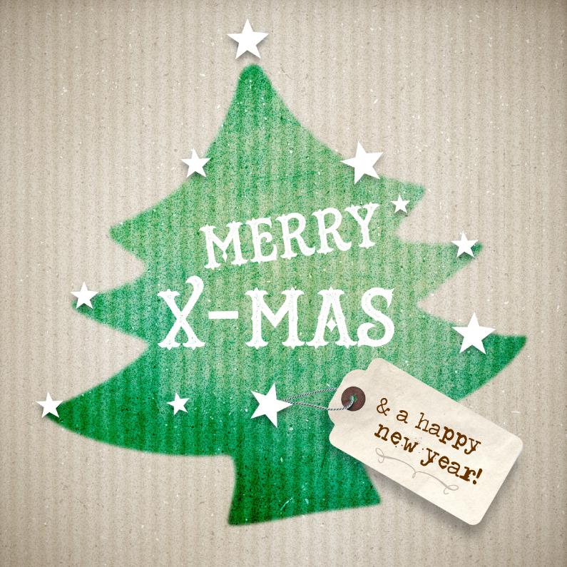 Kerstkaarten - Kerstkaart-Karton-kerstboom