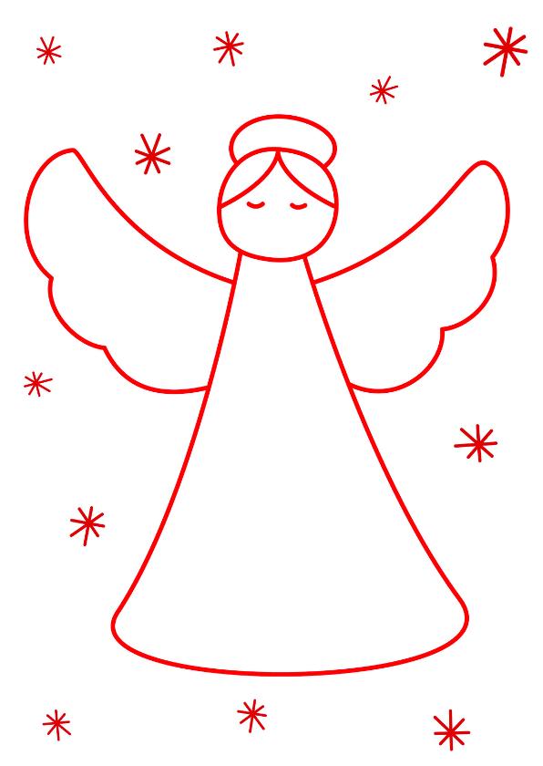 Kerstkaarten - Kerstkaart Kerst engel