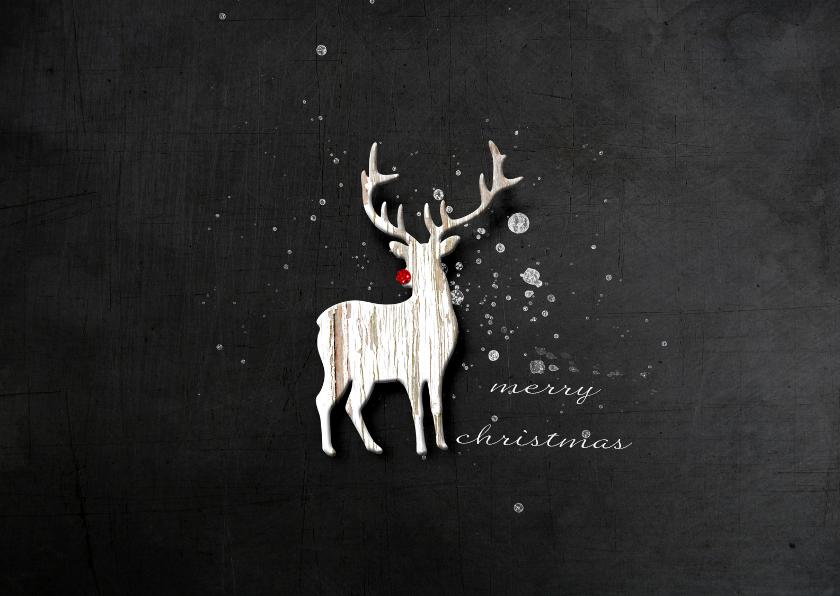 Kerstkaarten - Kerstkaart Kerst Hert Rudolf