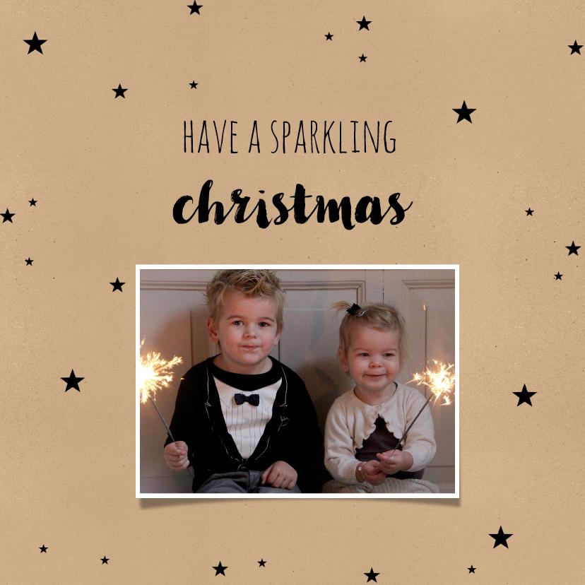 Kerstkaarten - Kerstkaart kerst sparkling- BC