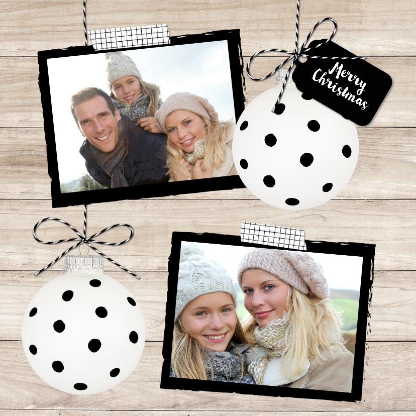 Kerstkaarten - Kerstkaart Kerstbal Stippen