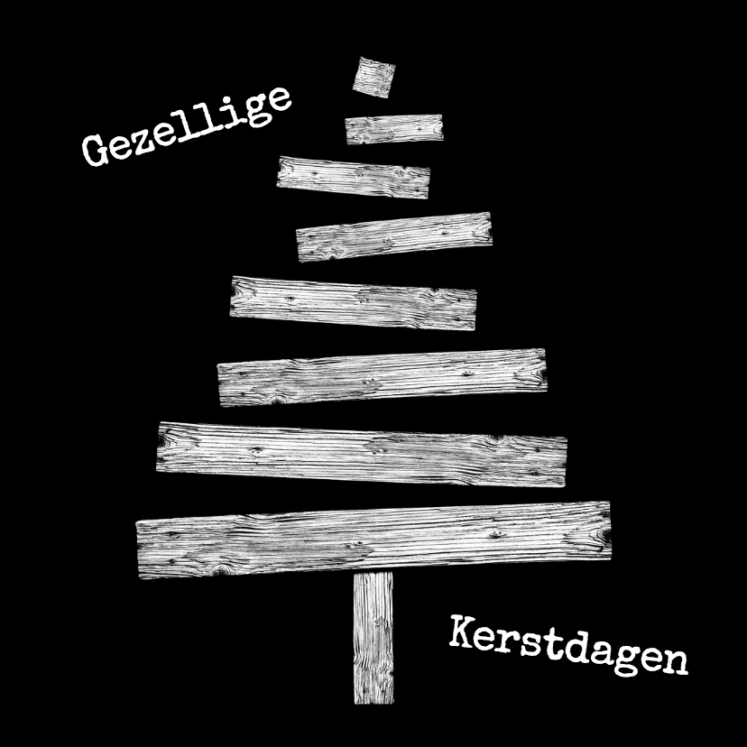 Kerstkaarten - Kerstkaart kerstboom hout3-HR