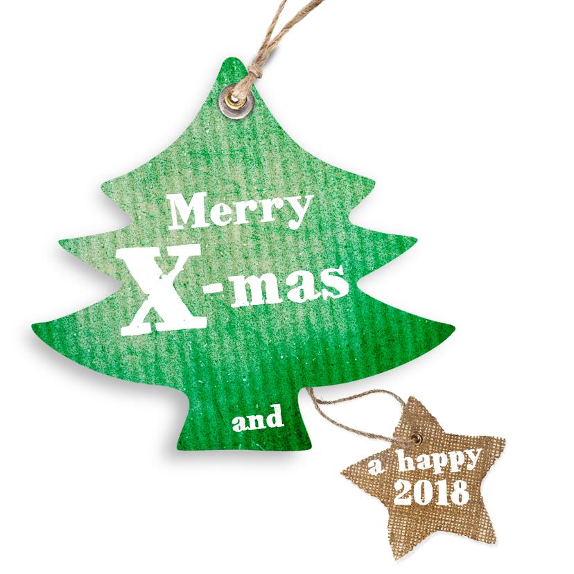 Kerstkaarten - Kerstkaart-kerstboom-ster-hertje