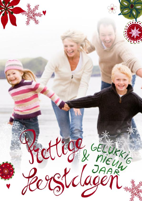 Kerstkaarten - Kerstkaart KERSTMIS sier LETTERS